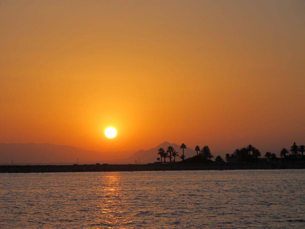 God natt fra Steinar og Janne utenfor Mar Menor.