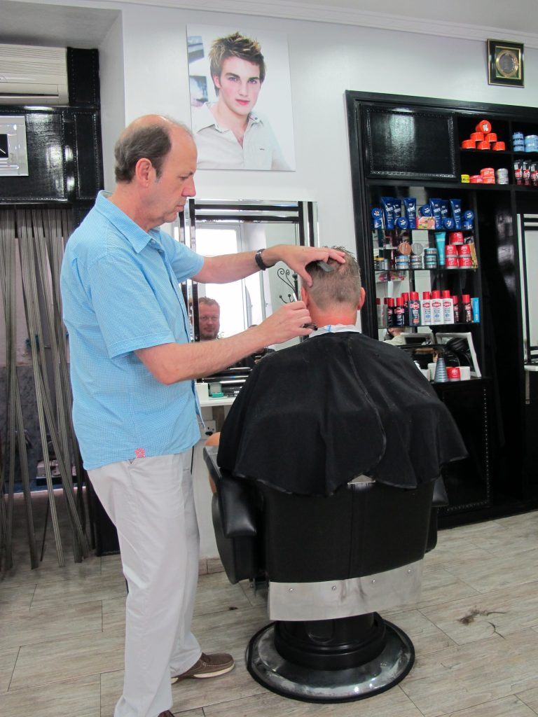 En staselig barbershop.