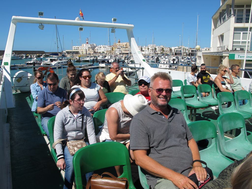 Kapteinen er klar for oppdagelsesferd til Càdiz.