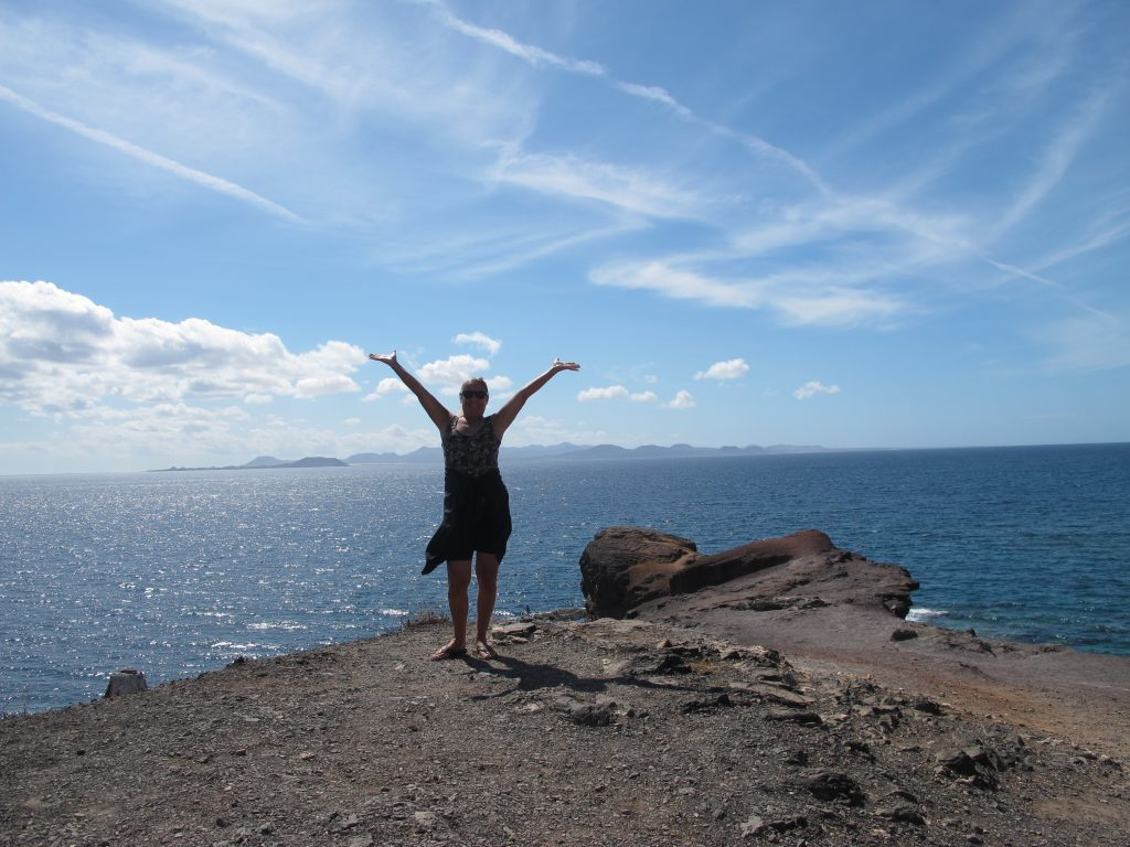 Og her ser vi over til Fuerteventura.