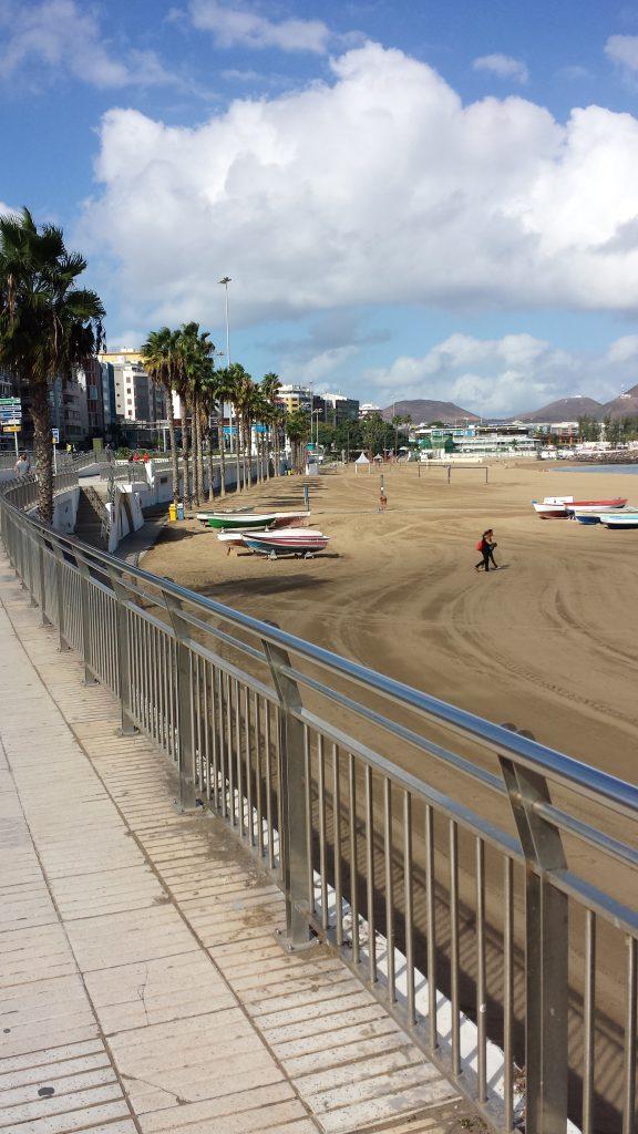 Bystranden i Las Palmas er faktisk ganske flott.