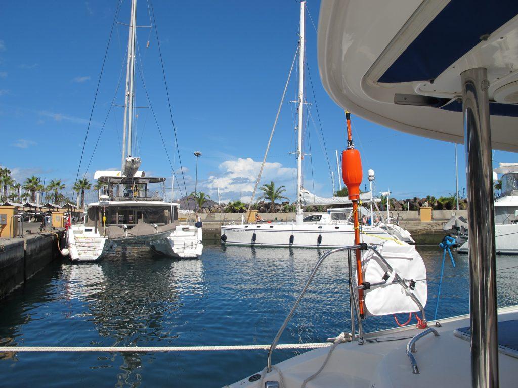Marina Vela Latina. En Lagoon 52 fra Sveits har tatt plassen vi hadde sist vi var her.
