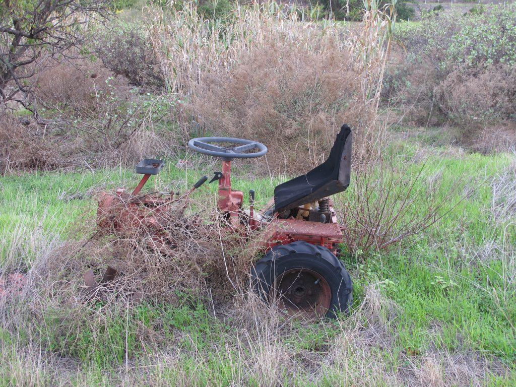 En mikroskopisk liten traktor. Tror ikke den virker lenger.