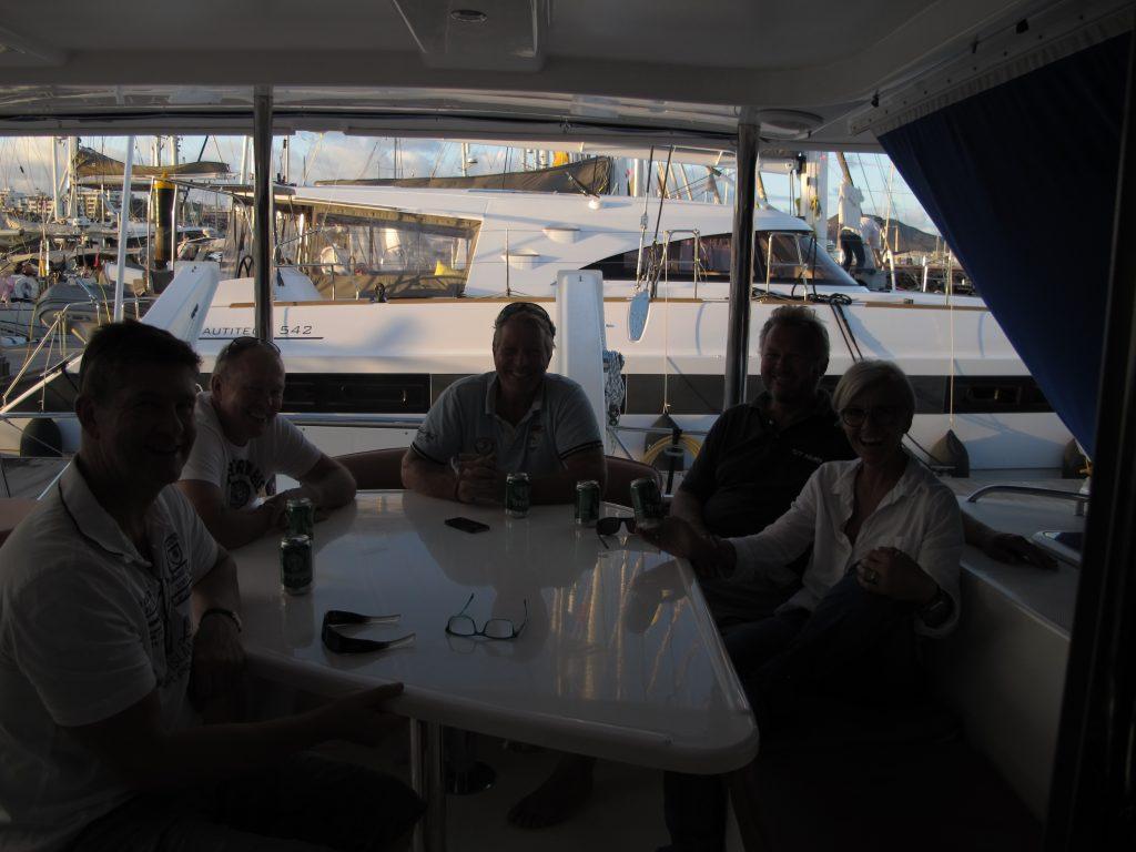 Pia og Kristian kom ombord sammen med et par venner.