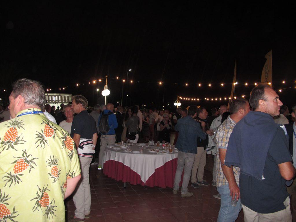 Jeg tror alle i hele ARC'en var på festen. Det var massevis av folk.