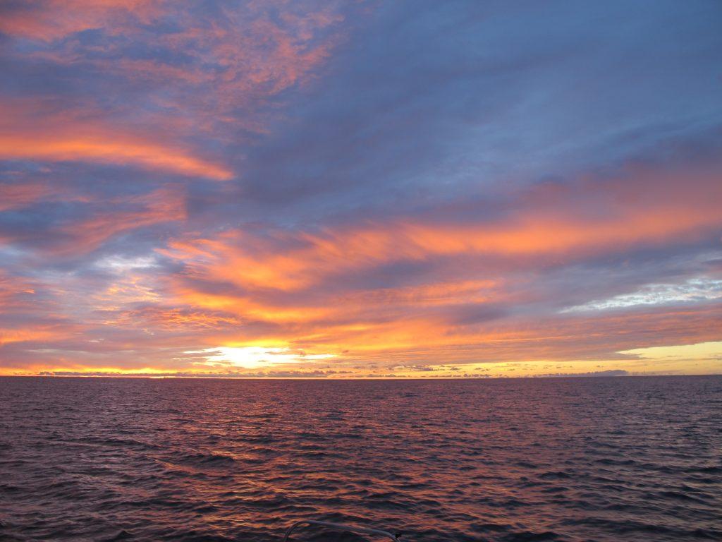 Fantastisk solnedgang.