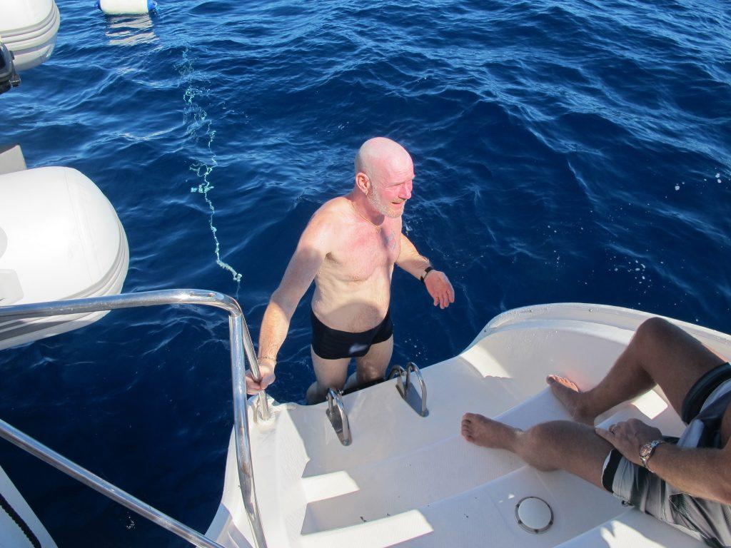 Jeg tror Robert var fornøyd, selv om det ikke kom noen delfiner for å leke med han.