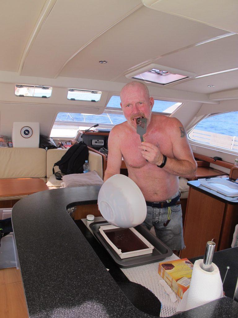 Robert fikk sleike sleiva, mens vi andre måtte dele på bollen.