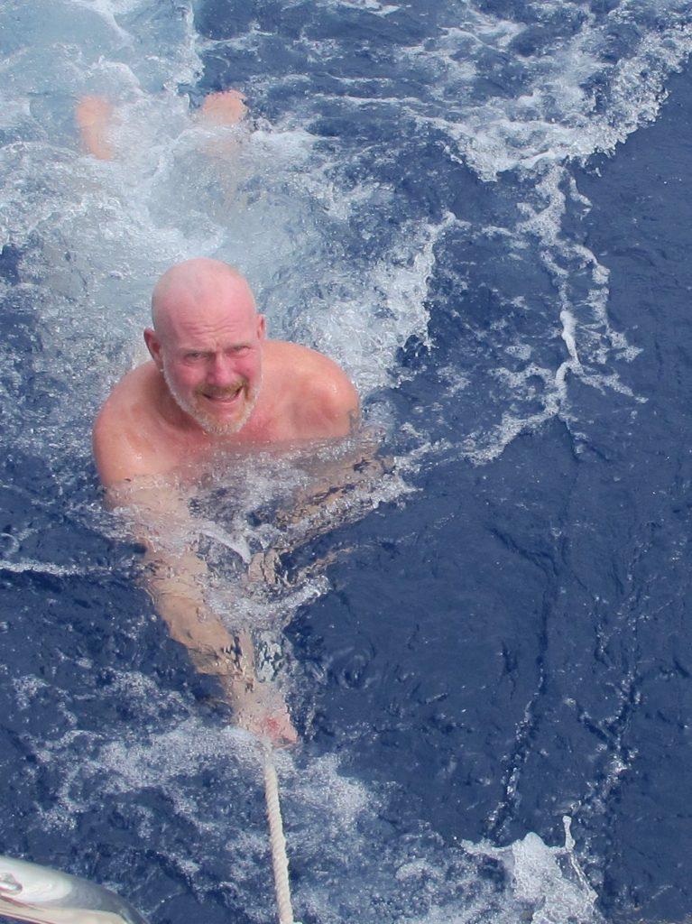 Så var svømmeturen over for denne gang. Og ingen delfiner kom denne gangen heller.