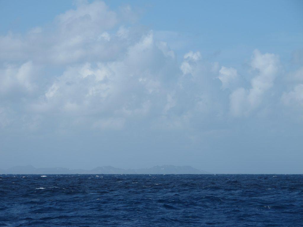 St. Lucia i det fjerne. Endelig landkjenning.