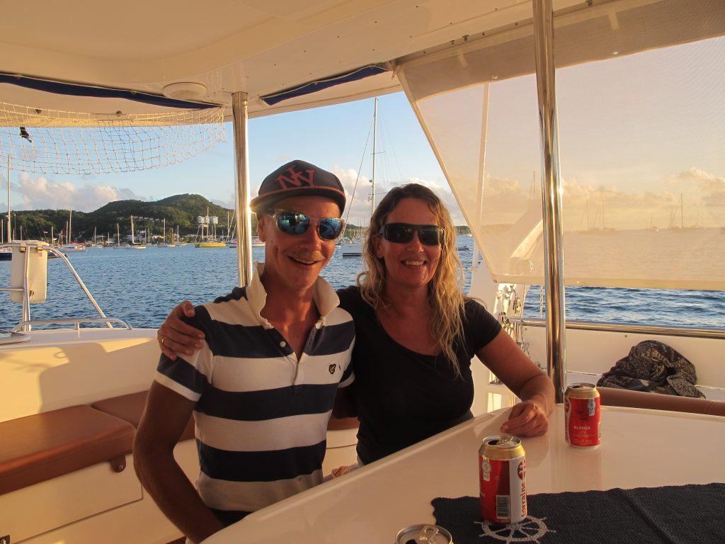 Erik og Tina har betalende gjester om bord en gang i blant. Og jeg tror de gjør det bra. Kite camp er visst det neste.