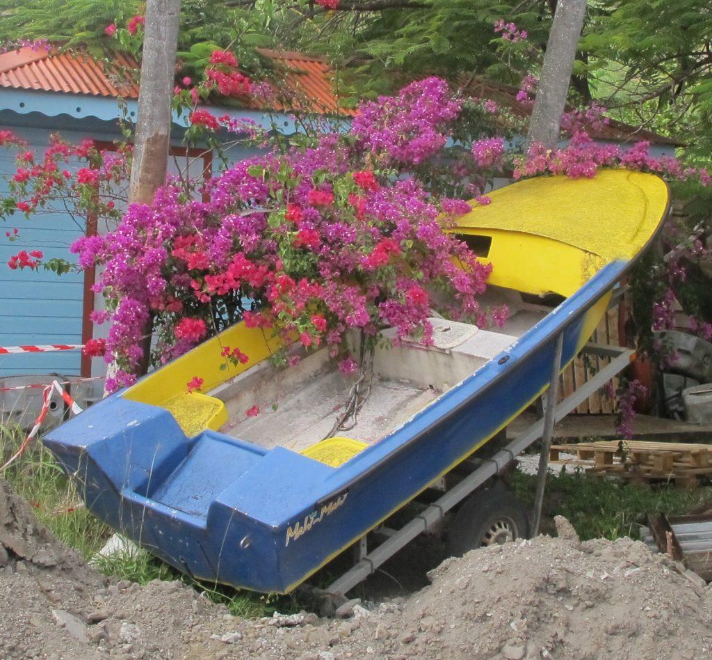 Så er det selvfølgelig noen som MÅ kjøre båten sin på land. Noe sier meg at det er lenge siden den ble satt her.